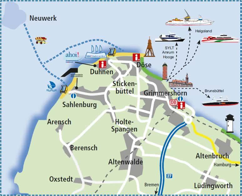 Karte Touristeninfos