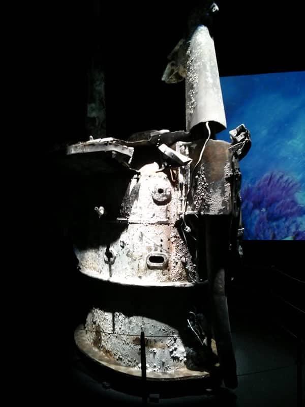 Turm des U-Bootes U 51 im Museum Windstärke 10